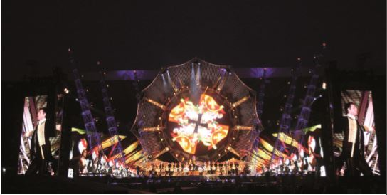 Il lighting design per il tour dei Take That (2009) (courtesy: Dave Hogan)