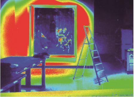 4. Un'immagine in falsi colori per lo studio ed il controllo delle uniformità e delle luminanze moleste (cortesia: Zumtobel Illuminazione)
