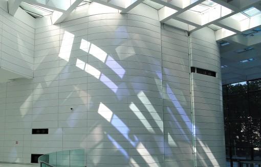 Un dettaglio della hall della Eqho Tower