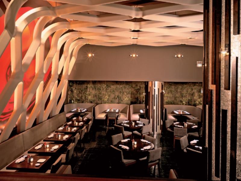 Progetto Illuminazione Ristorante : Atmosfera luminosa per il ristorante la cave cantù cignoli