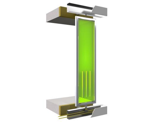La facciata bioreattiva: la struttura del pannello singolo (courtesy: (c) Arup )