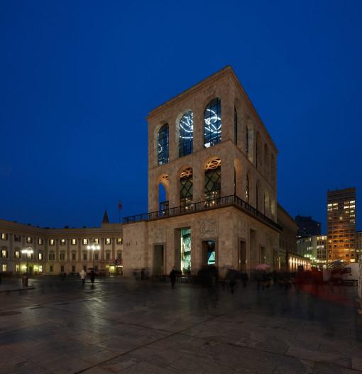 Un'immagine del Museo nelle ore serali (cortesia: Zumtobel)