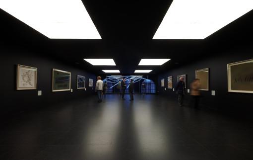 Nell'immagine, l'ultimo livello destinato alle sale espositive e per gli allestimenti (cortesia: Zumtobel)