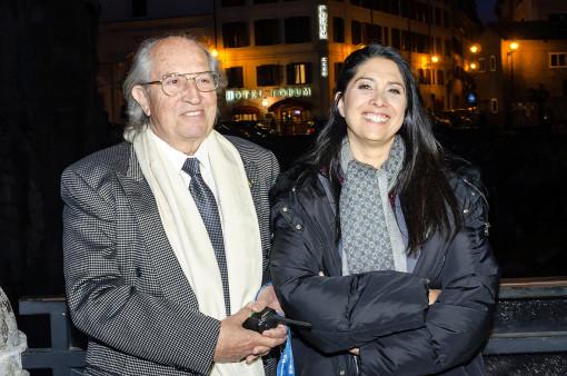 Vittorio e Francesca Storaro la sera dell'inaugurazione (cortesia foto: Fabio Anghelone)