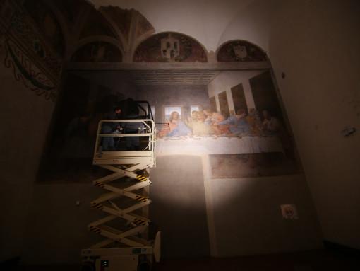 """Leonardo da Vinci, """"Ultima Cena"""". Un'immagine della nuova illuminazione"""