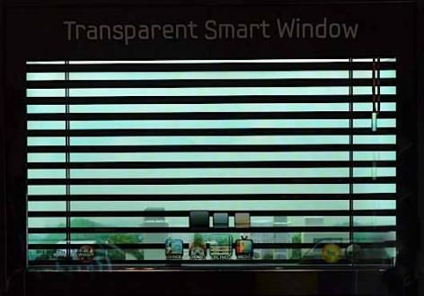 Prototipo Samsung Smart Windows al CES 2012 di Las Vegas