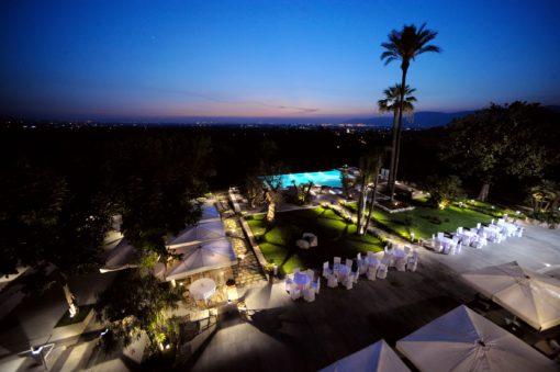 Villa Montesano. Ancora una vista d'insieme dell'illuminazione dei giardini (cortesia: F.lli Francesconi)
