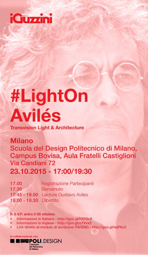 Invito iGuzzini LightOn_ 23.10 Avilés_Milano