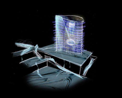 Uno studio di progetto degli effetti di illuminazione della Torre e per l'area circostante (cortesia: artec3 Lighting Vision, Barcellona)