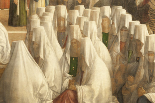 """Dettaglio de """"La Predica di San Marco ad Alessandria d'Egitto"""", che permette di notare l'ottimale resa cromatica del nuovo impianto (cortesia. ERCO)"""