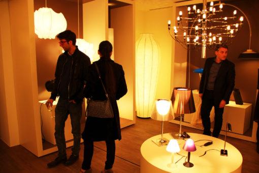 Roma. Alcuni scatti dell'evento di presentazione del nuovo showroom Flos