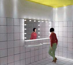 """Illuminazione del bagno: l'""""effetto camerino"""" (cortesia: G. Arcesilai)"""