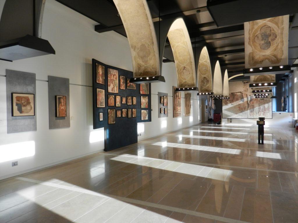"""Verona. Un'immagine di una delle sale del nuovo percorso espositivo realizzato per il Museo degli Affreschi """"G.B. Cavalcaselle"""" alla Tomba di Giulietta"""