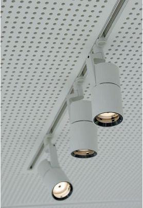 Gli spot Parscan per il sistema a binario Lightcast Downlights (cortesia: Erco)