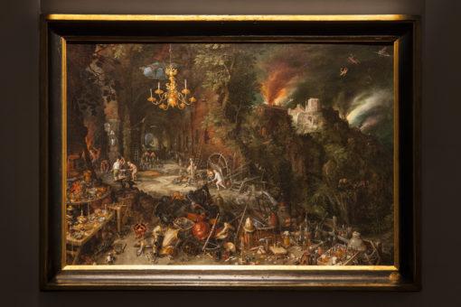 """Sala 7 - Jan Brueghel il Vecchio – """"Allegoria del Fuoco"""". La nuova illuminazione (b) (courtesy photo: Barbara Bonomelli)"""