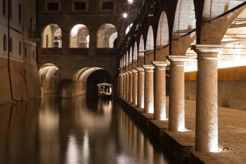 La nuova illuminazione per le Pescherie di Giulio Romano (courtesy photo: Gaia Cambiaggi)