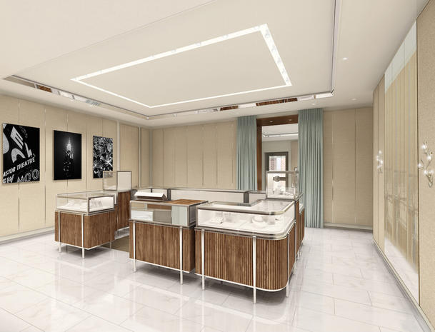 Un'immagine della nuova boutique Tiffany a Venezia