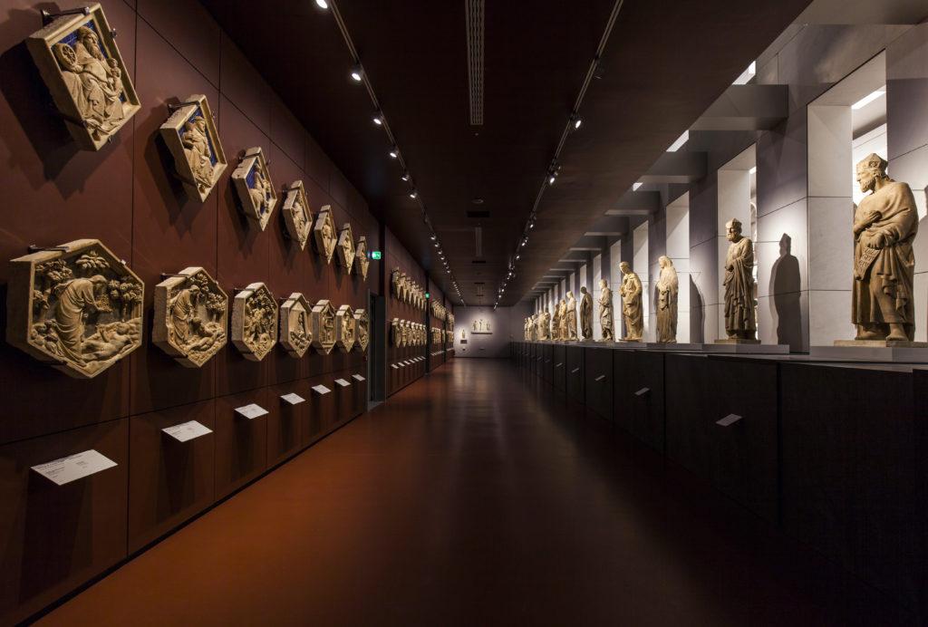 Uno scorcio della 'Galleria del Campanile', sala ubicata al piano superiore del Museo (cortesia: ERCO)
