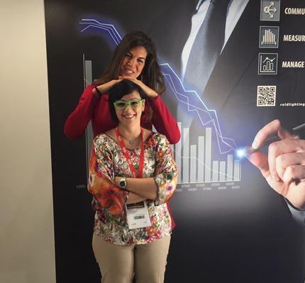 Nicoletta Boldrini, e alle sue spalle, Rossella Limosani (cortesia: Gruppo Rold)