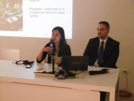 Nikita Junagade, Associazione LUCI e Alberto Sozza, presidente Consorzio Luci in Veneto