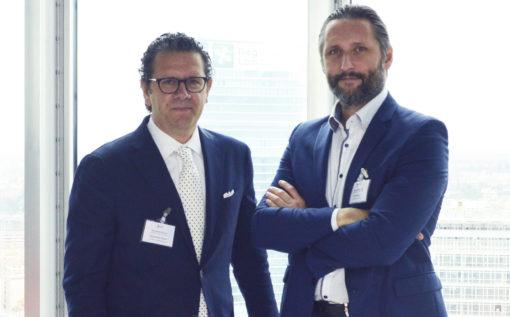 Il nuovo Presidente ASSIL Massimiliano Guzzini, a sinistra, con il Presidente uscente, Aristide Stucchi