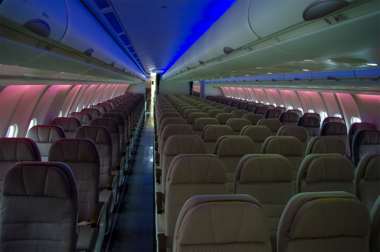 The LED lighting in economy