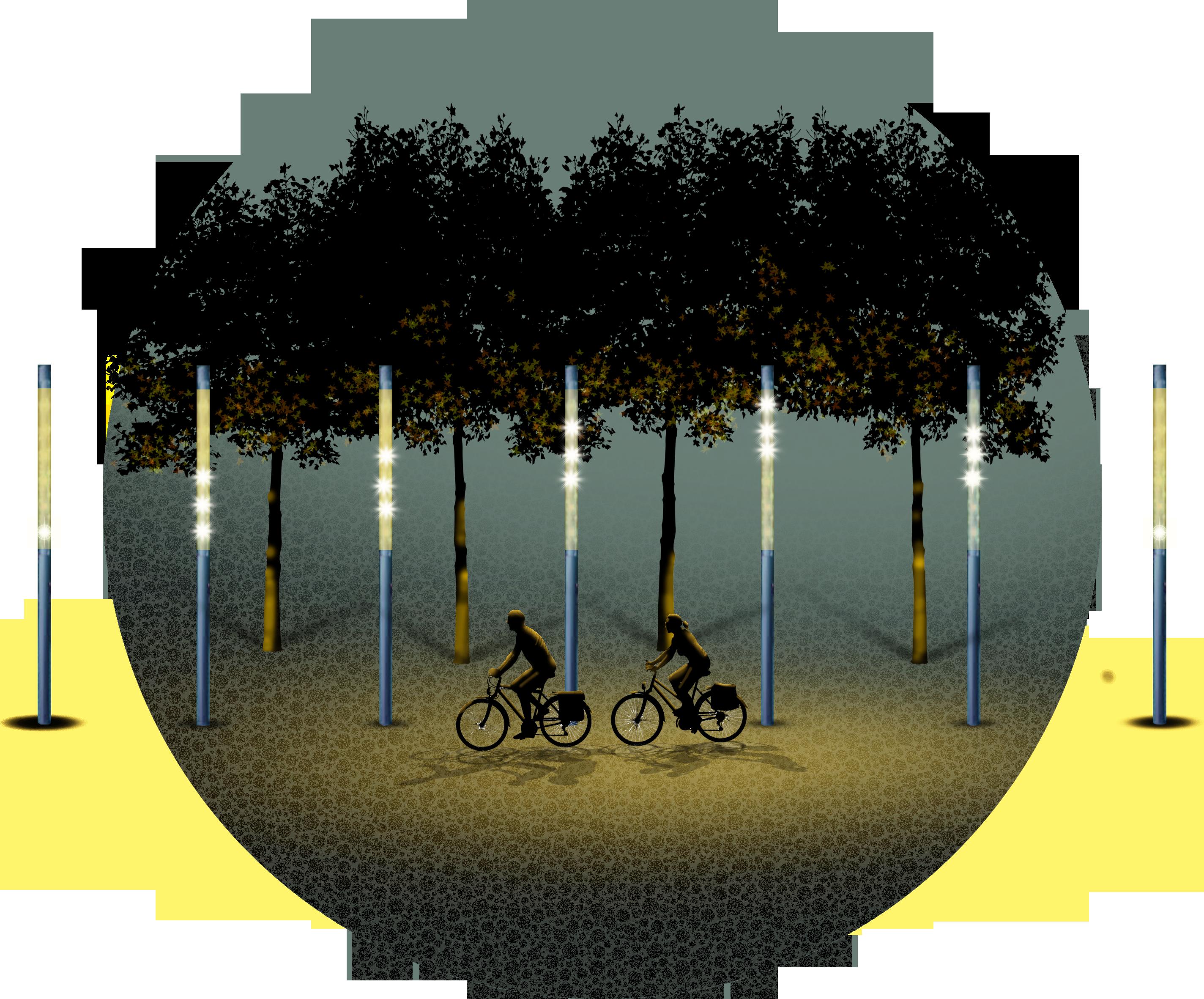Shanghai, Huang Pu River. Studi per l'illuminazione sul percorso ciclopedonale (courtesy: Giovanni Palacino, Agence CONCEPTO)
