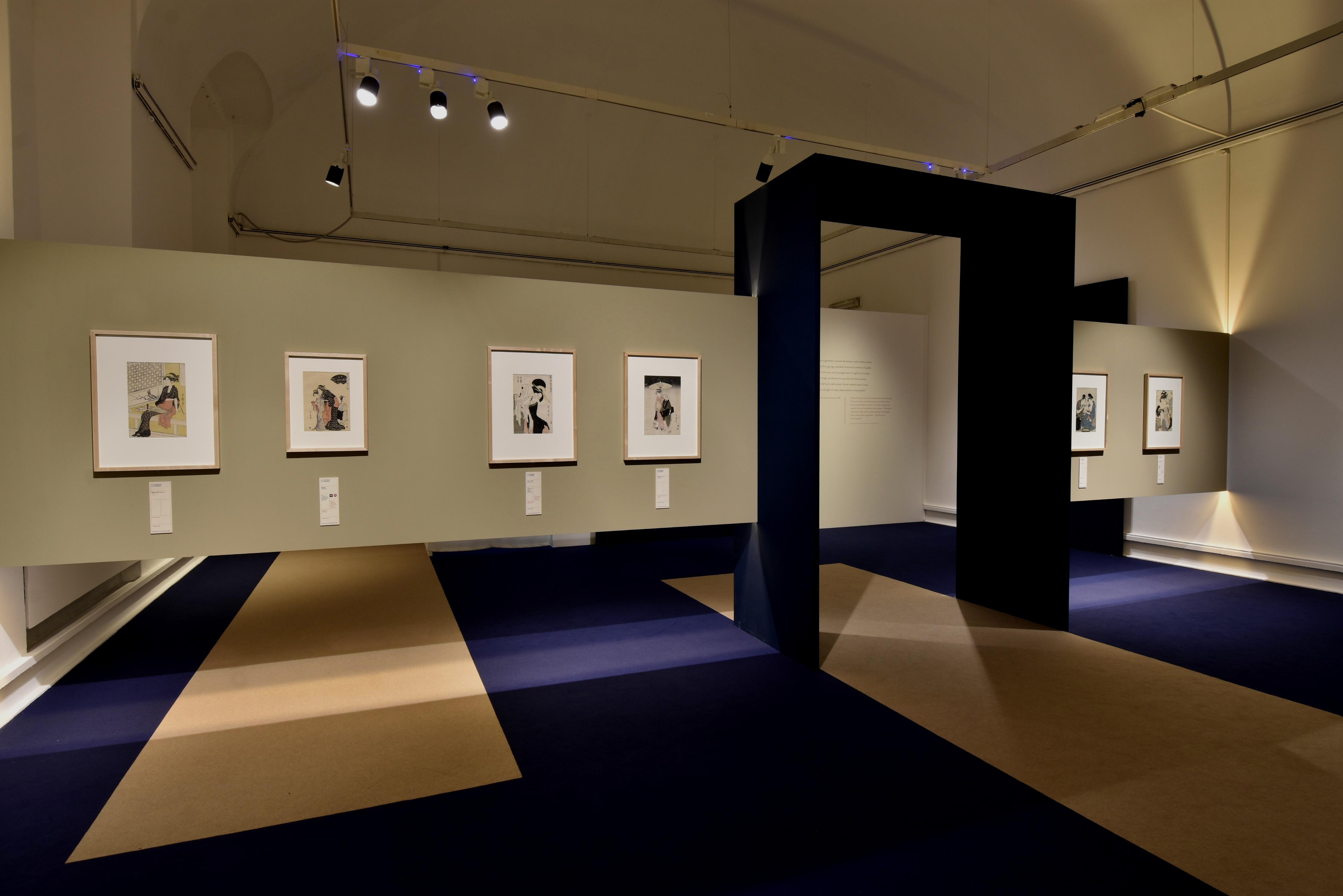 La sala dedicata all'opera di Utamaro: bellezza e sensualità (courtesy photo: Yuki Seli)