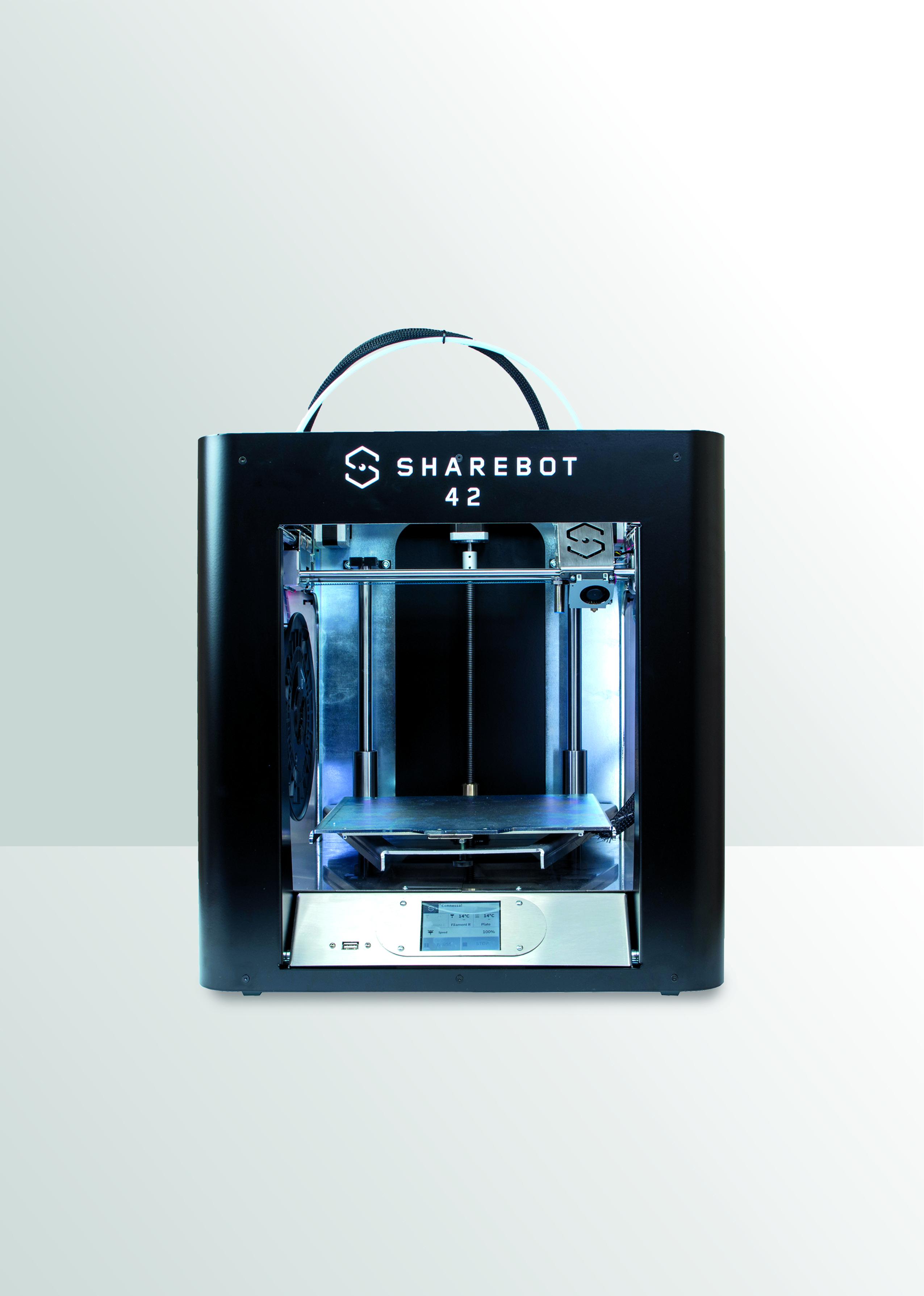 La stampante 3D con tecnologia FFF Sharebot 42 (courtesy: Sharebot)