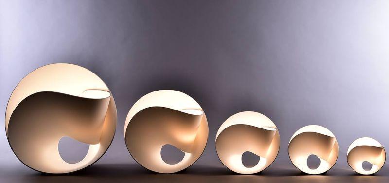 un materiale innovativo per il design delle lampade luce e design. Black Bedroom Furniture Sets. Home Design Ideas