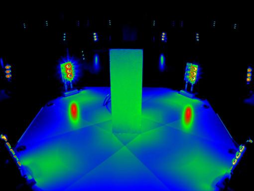 Immagine di luminanza della vetrina con illuminazione LED dal basso (cortesia: Politecnico di Torino)