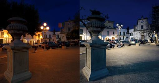 Venosa. Un'immagine prima e dopo la realizzazione del nuovo impianto (cortesia: Alberto Ricci Petitoni)