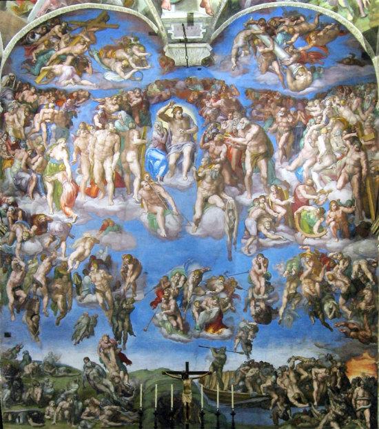 """""""Il Giudizio Universale"""" di Michelangelo Buonarroti (Cappella Sistina, Roma)"""