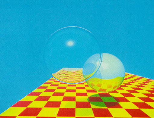 Figura 3 - Turner Whitted recursive raytracing - 1980 - fonte internet