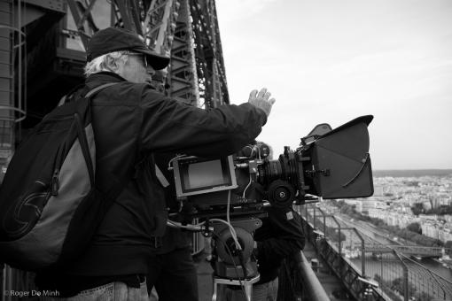 """Danilo Desideri sul set di """"Posti in Piedi in Paradiso"""" (2012) (cortesia: Danilo Desideri) (photo: Roger Do Minh)"""