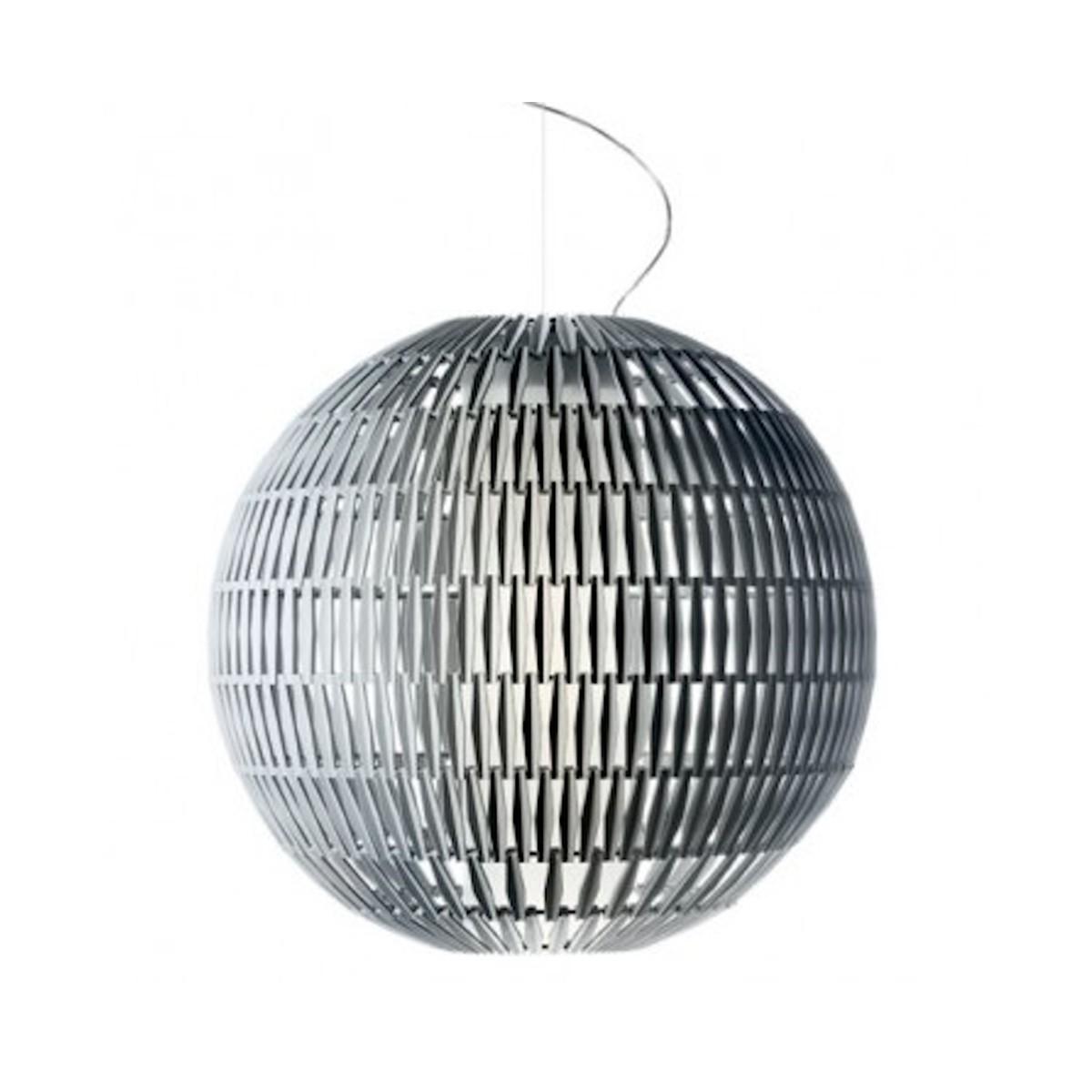 Sospensione Tropico di Giulio Iaccheeti: il modulo di vetro diventa la tessera per infinite modellazioni del corpo illuminante (cortesia; Foscarini)