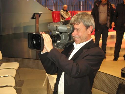 """Il regista del talent di RAI 1 """"Tale e Quale Show"""" Maurizio Pagnussat (cortesia foto: Maurizio Pagnussat RAI)"""