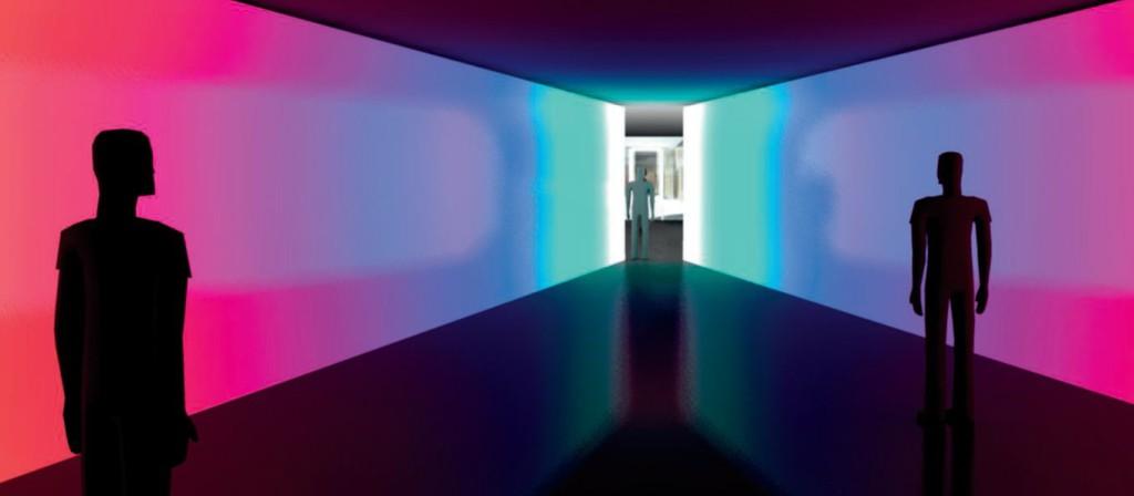 Angry Corridor: rendering di progetto di uno dei momenti del percorso