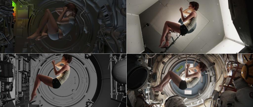 Gravity: la luce dentro la navicella (cortesia dell'autore)