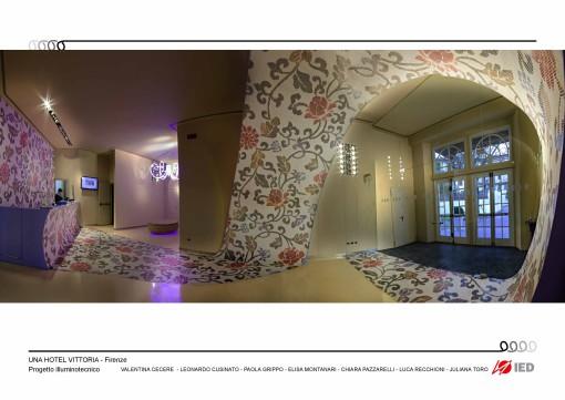 UNA Hotel Vittoria, Firenze. Una tavola della presentazione del progetto (cortesia: IED Firenze)