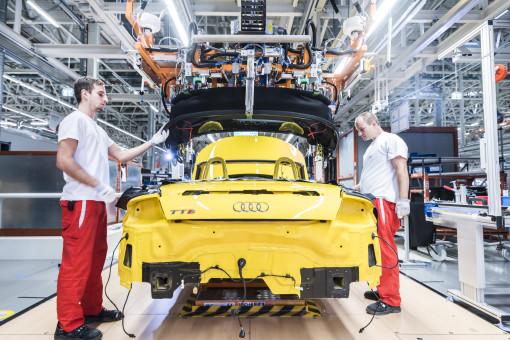 Audi.neue TT Roadster Produktion in Ungarn