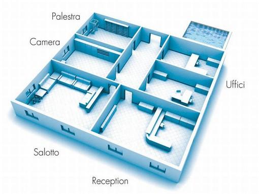 Gli ambienti tipici che in ambito residenziale/domestico possono essere interessati ad una gestione di tipo domotico degli impianti