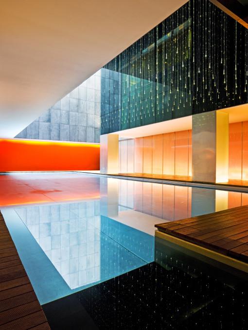 Lo spazio della piscina coperta