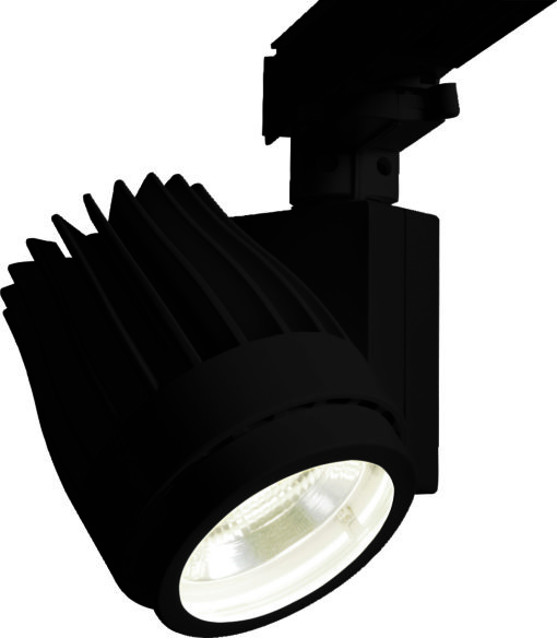 Uno spot a LED per sistema a binario E-CORE Tracklight 1200 (cortesia: Toshiba Lighting)