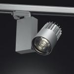 Il sistema di illuminazione Envios orientabile a luce LED su binario da 32 W (cortesia: Reggiani/Stanpro)