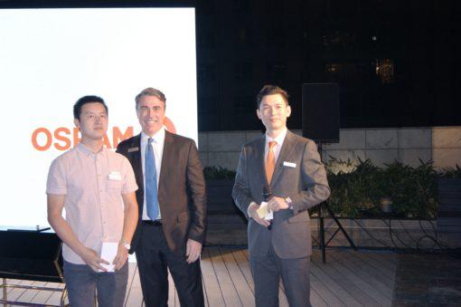 Pechino, OSRAM Moodify Night 2015. Al centro, Terry O 'Neal , CEO Traxon, brand OSRAM