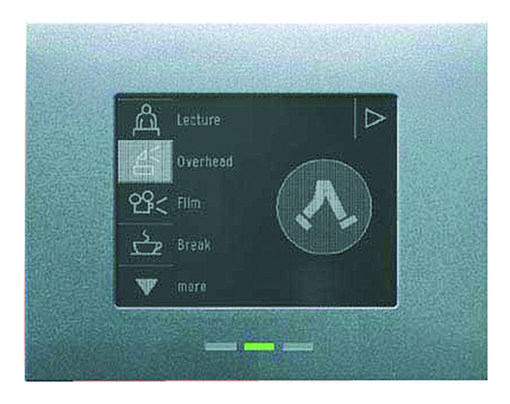 Gestione domotica dell'illuminazione: il terminale AD-MPO, il touch-panel del sistema Sensa Advanced (cortesia: Thorn)
