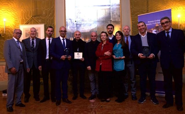 Premio Codega. Foto di gruppo con i vincitori
