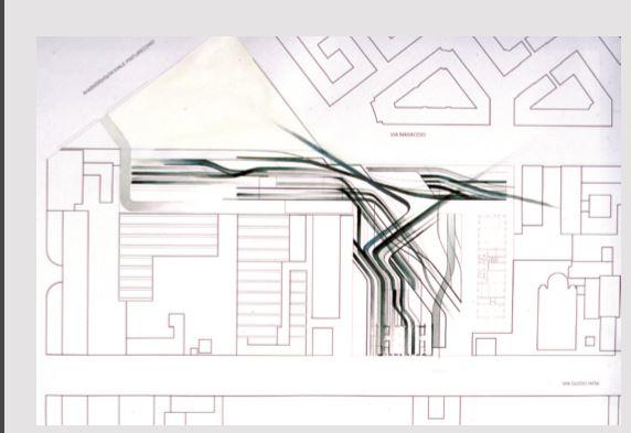 Uno sketch con lo studio del concept architettonico per il Museo (cortesia: Zaha Hadid Architects)