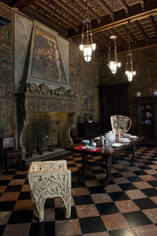 Milano, Museo Bagatti Valsecchi. La sala da pranzo dopo l'intervento (foto: Leo Torri)